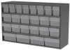 Akro-Mils Akrodrawers 120 lb Charcoal Gray Powder Coated, Textured Stackable Cabinet - 11 in Overall Length - 35 in Width - 22 in Height - 8 Drawer - Non-Lockable - AD3511CAST2 CLEAR -- AD3511CAST2 CLEAR