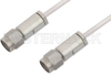 3.5mm Male to 3.5mm Male Cable 24 Inch Length Using PE-SR405AL Coax, LF Solder, RoHS -- PE34576LF-24 -Image
