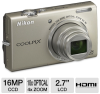 Nikon S6200 26273 COOLPIX Digital Camera - 16 Megapixel, 10x -- 26273 - Image
