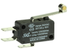 MICRO SWITCH V15 Series Standard Basic Switch, 16 A, long roller lever, 6,35 mm x 0,80 mm quick connect terminals, SPDT, 300 gf [2,94 N] -- V15H16-CZ300A06-K -Image