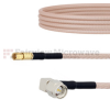 RA SMA Male to SSMC Plug Cable RG316-DS Coax in 12 Inch -- FMCA1500-12 -Image