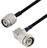 TNC Male to TNC Male Right Angle Cable Assembly using LC141TBJ Coax, 1 FT -- LCCA30104-FT1 -Image