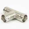 BNC T Adapter Female (Jack) Female (Jack) Female (Jack), Nickel Plated Brass Body -- SM3418