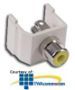 Hubbell Snap-Fit RCA Jack with Solder Coupler Termination.. -- SFRC