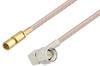 SMA Male Right Angle to SSMC Plug Cable 24 Inch Length Using RG316 Coax -- PE3C4407-24 -Image