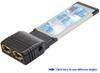 Dual Port FireWire/1394a ExpressCard -- 1002E