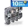 Fuse Terminal Block: 24VDC LED, 5mm x 20mm fuse holder, 10/pk -- KN-F10L24DC-10