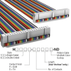 Rectangular Cable Assemblies -- H3DDH-4018M-ND -Image