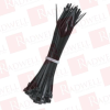 """BLACK BOX CORP FT8011 ( MINI CABLE TIES, 1/8""""W X 4""""L, 100-PACK, BLACK ) -- View Larger Image"""