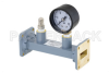 WR-90 Waveguide Pressurizing Section 4.25 Inch Length, UG-39/U Square Cover Flange from 8.2 GHz to 12.4 GHz -- PEWSP1007 - Image
