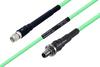Temperature Conditioned SMA Male to SMA Female Bulkhead Low Loss Cable 100 cm Length Using PE-P142LL Coax -- PE3M0127-100CM -Image