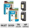 HP #78 C6578DN Tri-color Print Cartridge - 2 Pack