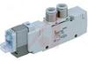 Solenoid Valve, 5 port, body ported, 2 position sngl, 110VAC, DIN, 1/4 port -- 70071950