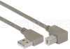 Right Angle USB Cable,Right Angle A Male/Up Angle B Male, 5.0m -- CA90RA-UB-5M