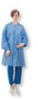 Lab Coat, No Pockets, Elastic Wrists, Snap Front, Single Collar, Blue -- 90625 - Image