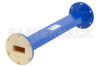 WR-137 Commercial Grade Straight Waveguide Section 12 Inch Length with UG-344/U Flange Operating from 5.85 GHz to 8.2 GHz -- PE-W137S001-12 -Image
