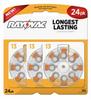 Mercury Free Hearing Aid Batteries Size 13 24-Pack -- L13ZA-24ZM