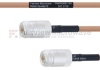 N Female to N Female MIL-DTL-17 Cable M17/128-RG400 Coax in 24 Inch -- FMHR0067-24 -Image