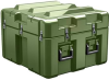Pelican AL2624-1205 Single Lid Cube Shipping Case with Foam - Olive Drab -- PEL-AL2624-1205RPF137 -Image