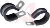 Cable Clamps; Cushioned; StaIn.less Steel; 0.250 In.; .711 In.; 0.500 In.; 0.203 -- 70182292