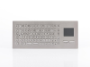 Stainless Steel Panel Mount Keyboard with Compact Full Layout and Touchpad, Industeel -- TKV-084-TOUCH-MODUL