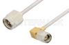 SMA Male to SMA Male Right Angle Cable 6 Inch Length Using PE-SR405AL Coax -- PE34199LF-6 -Image