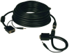 High Resolution SVGA/VGA Monitor Easy Pull Cable with Audio and RGB Coax (HD15 M/M), 100-ft. -- P504-100-EZ - Image