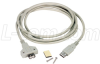 Premium USB Type A Male / Female Mounting Extension Cable, 2.0m -- CSMUAXMT-2M