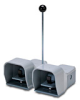 On-Off Foot Switch: double plastic pedal with gray metal guards -- APD1223-V0-M