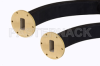 WR-137 Seamless Flexible Waveguide 12 Inch, UG-344/U Round Cover Flange Operating from 5.85 GHz to 8.2 GHz -- PE-W137SF005-12 - Image