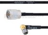 N Male to RA SMA Male MIL-DTL-17 Cable M17/84-RG223 Coax in 100 cm -- FMHR0043-100CM -Image