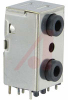 Jack, Dual Stereo; 3.5mm; Shielded; Vertical PCB mount -- 70214219