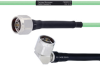 Temperature Conditioned Low Loss N Male to RA N Male Cable LL142 Coax in 18 Inch -- FMHR0176-18 -Image