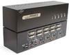 Linkskey 4-port Dual Monitor DVI/DVI USB KVM + 7.1/MIC/USB w/ cables -- LDV-DM704AUSK - Image
