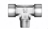 Instrument Fitting - IBT Branch Tee Male to Female NPT Threads - Image