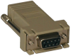Modular Serial Adapter Straight-Through Wiring (DB9 F to RJ45 F) -- B090-A9F -- View Larger Image
