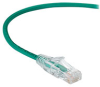 Slim-Net 28-AWG CAT6A 500-MHz Ethernet Patch Cable (UTP) - PVC, Snagless, Green, 3 ft. -- C6APC28-GN-03