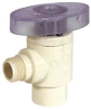 Angle Valve,1/4 Turn,1/2 X 3/8 In,CPVC -- 5UEE4