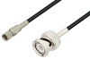 10-32 Male to BNC Male Cable 24 Inch Length Using RG174 Coax, LF Solder, RoHS -- PE3C3275LF-24 -Image