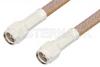 SMA Male to SMA Male Cable 18 Inch Length Using RG400 Coax, RoHS -- PE3500LF-18 -Image