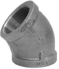 Elbow, 45 Deg,3/4 In,NPT,Black Iron -- 4WGX6