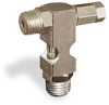"(Formerly B1630-8X-TP), Inverted Angle Small Sight Feed Valve, 1/4"" Male NPT Inlet, 1/4"" Male NPT Outlet, Tamperproof -- B1628-344B1TW -Image"