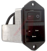 Power Entry Module; 2; 125/250 VAC @ 50/60 Hz; 16 A; lt 5 muA @ 250 V/60 Hz -- 70080083 - Image