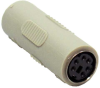 PS/2 (MiniDin6) F/F Gender Changer (Coupler) -- 30D5-FF - Image
