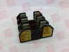 FUSE BLOCK, CLASS H FUSE, SCREW MOUNT VOLTAGE RATING VAC:250V FUSE CURRENT:3A FUSE HOLDER TYPE:FUSE HOLDER HOLDER TERMINALS:SCREW NO. OF FUSES:3 -- H250303S