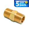 Connector Air Fitting: male, brass, for 3/8in NPT to 3/8in NPT, 5/pk -- BFMC-38N -- View Larger Image