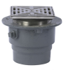 Floor Drain with Square Stainless Steel Strainer -- FD-1200-L -- View Larger Image