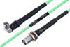 Temperature Conditioned SMA Male Right Angle to TNC Female Bulkhead Low Loss Cable 8 Inch Length Using PE-P160LL Coax -- PE3M0199-8 -Image
