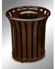 Americana Open Top Outdoor Metal Trash Can -- GPR409-BRONZE