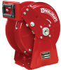 Compact Dual Pedestal Spring Driven Low Pressure Air / Water Reel Series DP5000 -- DP5400 OLP - Image